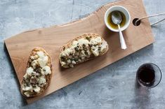 Cauliflower Crostone with Anchovy and Caper Sauce Recipe on Food52