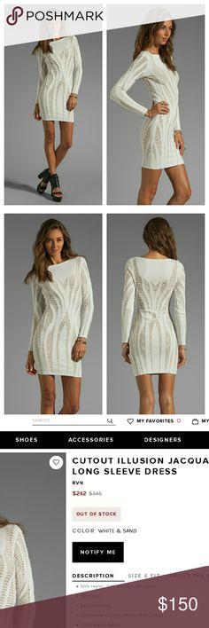 RVN White Illusion Bodycon Dress NWTs RVN Dresses Mini