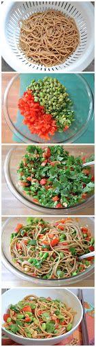 Spicy Hoisin Noodle Salad Recipe