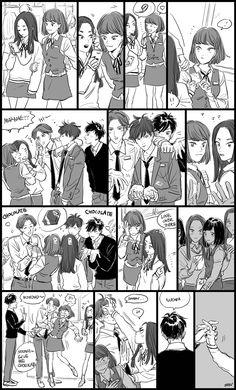 "Request ""Do you have a thing for chenkai?"" ""- Sehun who prefers funky funky Chen Hyung as EXO's mom (as Hunnie mentioned in S. Exo Kokobop, Sehun, Exo Fan Art, Exo Ot12, Kpop Fanart, Funny Comics, Manga, Webtoon, Chibi"