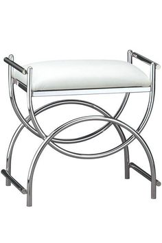 Curve Chrome Vanity Bench Vanity Stools Bedroom Furniture