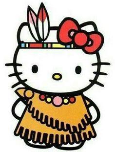Ahhh I've never seen native hello kitty, or uh Cherokee ;)