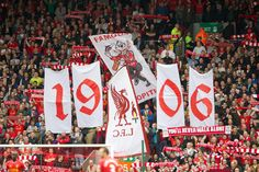 The Spion Kop 1906 group (who organise the flags and banner displays on the Kop) #LFC #thekop