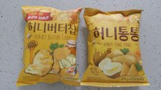 Korean Snack Haitai Honey Butter Chip 60G + Honey Tong Tong 65G, Sweet Potato
