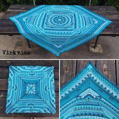 🇺🇸 Three years ago I finished this beauty. My first big crochet project. 🇸🇪 För tre år sen blev jag färdig med dena skönhet. Det var mitt…