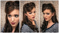 Retro Victory Rolls Tutorial - I am IN LOVE w/ this!