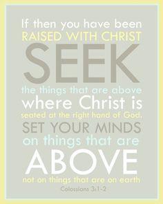 Seek Christ