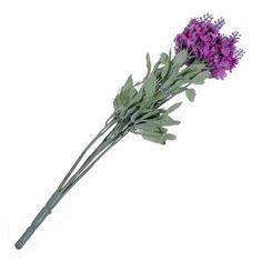 NEW 10 Heads Artificial Lavender Silk Flower Bouquet Wedding Home Party Decoration (DARK PURPLE): Amazon.co.uk: Kitchen & Home