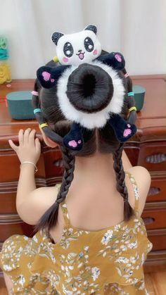 Super Cute Hairstyles, Easy Little Girl Hairstyles, Baby Girl Hairstyles, Baby Girl Dress Design, Hair Patterns, Braids For Kids, Toddler Hair, Hair Videos, Hair Highlights