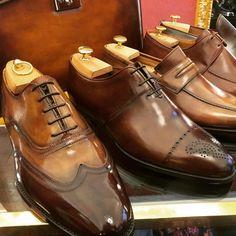 "paul-lux: "" Bespoke shoes at @bocachesalvuccicalzolai #wiwt #lookbook #apparel #mnswr #menswear #igfashion #guyswithstyle #mensfashionpost #fashion #mensfashion #gentleman #gentlemen #gentlemanstyle #ootdmen #lookoftheday #ootd #bespoke #picoftheday..."
