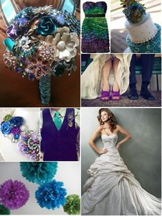 peacock wedding... love the colors not sure if its my ideal wedding but its something to consider