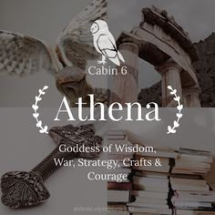 Athena - Goddess of Wisdom, War, Strategy, Crafts & Courage - Percy Jackson Olympians Cabin 6 Athena Goddess Of Wisdom, Greek Goddess Art, Goddess Names, Arte Percy Jackson, Percy Jackson Cabins, Greek Gods And Goddesses, Greek And Roman Mythology, Athena Aesthetic, Warrior Cats