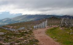 Going down from Ben Macdui, Scotland, Cairngorms, mountains, landscape, nature, clouds, hills, green by PicClick on Etsy