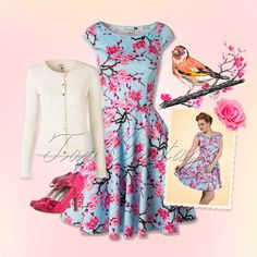 Time to blossom in this pretty retro spring look!