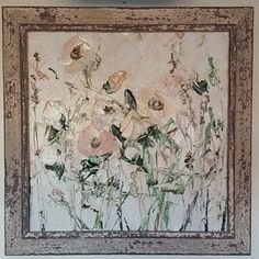 Items similar to Pale White Pink Original Oil Painting Floral Landscape Wild Flowers Painting Palette Knife Large Heavy Textured Beige Sand Peach Roses Peony on Etsy Coral Painting, Flower Painting Canvas, Oil Painting Flowers, Flower Canvas, Oil Painting Abstract, Texture Painting, Abstract Canvas, Knife Painting, Oil Paintings