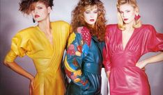 1980's fashion trends - Google Search #1980SFashionTrends 1990s Fashion Trends, 2000s Fashion, Fashion History, Retro Fashion, Vintage Fashion, Fashion Outfits, Spice Girls, Leather Dresses, Gina Tricot