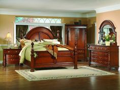 Merveilleux Queen Bedroom Sets With Armoire #BedroomSetwithArmoire