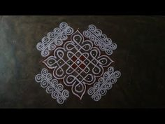 Kambi kolam for today easy pulli kolam//kaalai thendral kolangal pavithra Indian Rangoli Designs, Rangoli Designs Flower, Rangoli Border Designs, Rangoli Designs Images, Rangoli Ideas, Rangoli Designs With Dots, Rangoli With Dots, Beautiful Rangoli Designs, Simple Rangoli