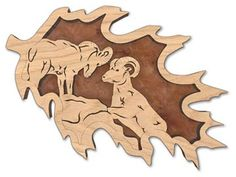 scroll saw pattern of gingerbread men | FLK111 - Sierra Nevada Bighorn Endangered Forest Leaf