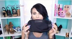 Maria McLean features our #JackiEaslick cosmetic bag! Check it out at 8:00! #cosmetics #black #makeup