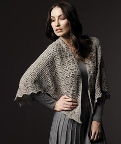 What I want to make in the ton of sportweight alpaca I have: Design 1931, Lace Shawl pattern by Schachenmayr
