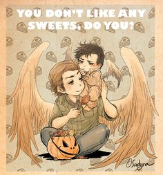 Baby!Castiel and Gabriel. So cute! I miss Gabriel!