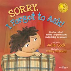 Book by Julia Cook about asking permission and apologizing
