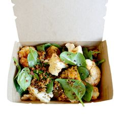 Roasted cauliflower and pumpkin salad