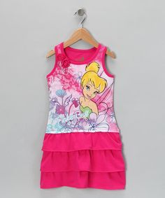 Take a look at this Pink Tinker Bell Tiered Ruffle Dress - Toddler & Girls by Disney on #zulily today!