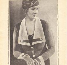 Vintage knitting patterns- vintage 1930s knitting pattern for stylish jacket and hat pdf