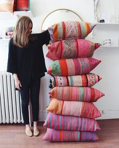 Floor cushions, handmade, now available in-store! : Floor cushions, handmade, now available in-store! Bohemian Bedroom Decor, Boho Decor, Diy Pillows, Decorative Pillows, Colourful Cushions, Floor Cushions, Soft Furnishings, House Colors, Home Deco