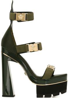 Versace Medusa tri-strap platform sandals