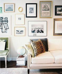 wall decor gallery art / decorar con fotos y cuadros