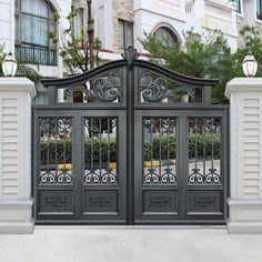 New house entrance furniture garage Ideas Steel Gate Design, Front Gate Design, Main Gate Design, House Gate Design, Door Gate Design, Fence Design, Garden Design, Front Gates, Entrance Gates