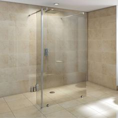 #Trending #2015 #bathroomDecorIdeas Wetrooms and bigger shower spaces... Get the look today at https://victoriaplum.com/product/v10-luxury-glass-panel-1050-ksg11102