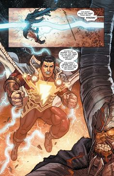 Darkseid's father Yuga Khan aka Zonus fighting Captain Marvel SHAZAM
