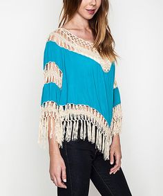 This Jade Crochet Fringe Tunic is perfect! #zulilyfinds