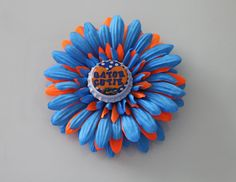 Florida Gators Gerbera Daisy  4 Gerbera by flowerchildbowtique, $3.99