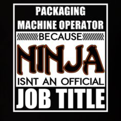 Cool BoringMachine Operator Ninja TShirt T Shirts  Machine T