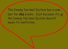 great website to explain dewey decimal system to kids!