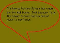 great website to explain dewey decimal system to kids!