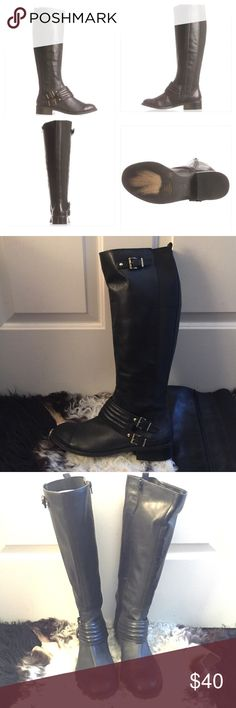 Jessica Simpson Elmont2 wide calf riding boot sz10 In excellent Pre-Loved condition. Worn maybe 4 times. No damages or defects. Size 10 and true to size. Wide calf. Very comfortable on. Retail for $150. Heel height 1.00 in Shaft circumference 16 in Shaft height 16 in Leather upper. Offers accepted through OFFER BUTTON ONLY  Jessica Simpson Shoes Over the Knee Boots