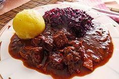 Hirschgulasch, ein schönes Rezept aus der Kategorie Wild & Kaninchen. Bewertungen: 233. Durchschnitt: Ø 4,8.