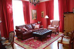 Red Living Room Inspiration Ceiling Curtains Drop Cloth Ikea Closet