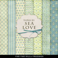 New Freebies Backgrounds Sea Love Kit by Far Far Hill