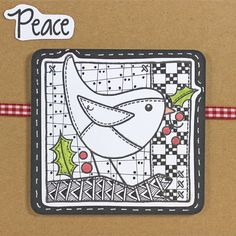 Clear Magic stamp from the Francoise Collection designed by Francoise Read and Color Shapes, Zentangle, Stamping, Birds, Magic, Phone Cases, Feelings, Christmas, Inspiration