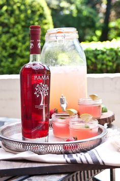Mix up a batch of PAMA Party Punch to drink with friends on the patio #PAMACelebrateSummer #Contest