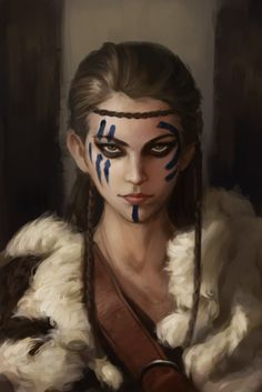 f Rogue Thief barbarian Light Armor Cloak Circlet wilderness portrait female Fantasy Warrior, Fantasy Rpg, Medieval Fantasy, Dark Fantasy, Dungeons And Dragons Characters, Dnd Characters, Fantasy Characters, Female Characters, Fantasy Character Design