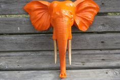 PICK YOUR COLOR Wall Mount Elephant Head / Faux by 2CountryChics, $55.00