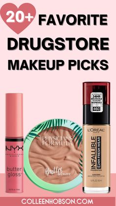 With so many amazing drugstore makeup products to choose from, here are our top 3 picks from our favorite drugstore beauty brands for you to try out. #bestdrugstoremakeup Best Drugstore Makeup, Best Makeup Products, Make Up Dupes, Makeup Must Haves, My Makeup Collection, Cheap Makeup, Kiss Makeup, Makeup Tips, Budget